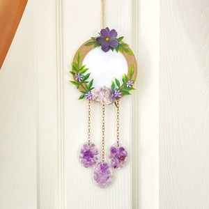 Amethyst Mini Picture Frame Wreath